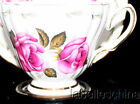 Royal Vale England Tea Cup and Saucer Charm Pink Roses Gold Gilt Trim MPN 410