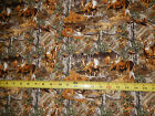 Real Tree woods with animals deer buck moose turkey 9986 multi hued pc fabric
