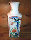 Antique Japanese Hand Painted Blue & White Porcelain Wall Plaque Vase Signed 10