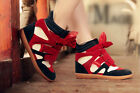 New Womens shoes Velcro Strap High Top Wedge Hidden Heels Ankle Boots Sneaker