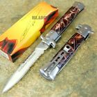 Italian Godfather Stiletto Spring Assisted Open Tactical Pocket Knife CLD116-W