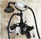 Oil Rubbed Bronze Wall Mounted Bathroom Tub Faucet Clawfoot Tub Shower Mixer Tap