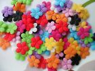 100pcs Padded Felt Daisy Flower Appliques Craft 10 Color