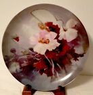Hand painted Poppies on 12 inch Charger Plaque by Artist Alzora Zaremba