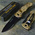 TAC-FORCE Speedster Rescue Desert Camo Spring Assisted Open Folding Pocket Knife