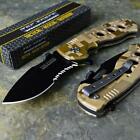 TAC-FORCE New Speedster Rescue Desert Camo Spring Assisted Folding Pocket Knife