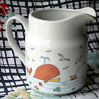 Vintage Takahashi Pitcher Whales Tsune Ceramic Nautical Seagulls Japan White
