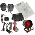 Universal Car Alarm Security & Keyless Entry System with Two 4-Button Remotes