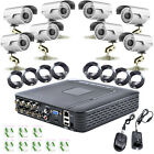 8 Channel DVR 8 x 1200TVL Outdoor Video Surveillance Security +8X10M cctv Cable
