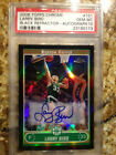 Larry Bird 2006 Topps Chrome Black Refractor Autograph PSA 10 GEM MINT - POP 1!!