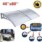 SUN SHADE CANOPY AWNING FOR WINDOWS DOORS 40*80 POLYCARBONATE CLEAR HOLLOW SHEET