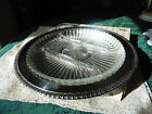 Vtg. Kent Silversmith Ornate Silver Tray With Glass Liner For  Relis
