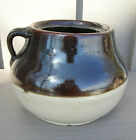 Old Vintage Antique Primitive Stoneware Bean Pot Crock Kitchen Tool Decor