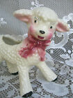 Old Vintage White Lamb Planter Mid-Century Stanford Art Pottery Home / Baby Gift