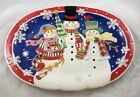 Fitz & Floyd Frosty Friends Platter ~ Snowmen ~ New In Box ~ Christmas Platter