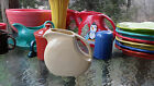 FIESTA 28 OZ. SMALL DISK DISC JUICE PITCHER  ivory