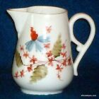 Vintage Antique Victorian Porcelain Floral Blue Flower Pitcher Creamer