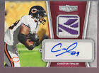 2010 Topps Unrivaled Reebok Logo Jersey Patch Chester Taylor 10 Bears Vikings