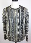 Roundtree & Yorke Sweater Mens Bill Cosby Multicolor 3D Textured L