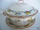 Rear Antique Hampton ENGLAND Covered Vegetable Serving Bowl  With Under Plate