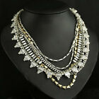 Fashion Sutton Necklace,Golden Charming Wrap Five Strand Crystal Dot Necklace