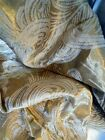 ANTIQUE FRENCH BROCADE  SILK FABRIC  GOLD METALLIC THREADS 19TH-CENTURY
