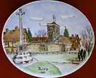 Thomas Bavaria, porcelain plate hand painted 1982 Ruislip