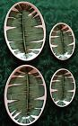 LOT 4 Vintage Syracuse China Restaurant Ware Banana Leaf Oval Plate Platter RARE