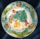RARE FRENCH ART-NOUVEAU MAJOLICA PLATE WITH SNAIL/ PUMPKIN 12 AVAILABLE c1890