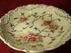 Vintage Arnart Creations 7440 Hand Painted Roses on Porcelain Compote - c.1950's
