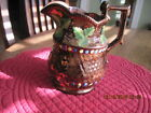 1850-1Antique/Vintage Decorative Ceramic China Copper Lustre Pitcher/Creamer