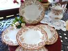 Ye Olde Hall Potterie COLUMBIA Brown Transfer Staffordshire Lot 5 Plates 8
