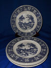 4 STRATWOOD Blue Shakespeare Country Dinner Plates Transferware
