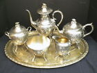 Antique 5 Piece Rogers, Smith & Co. Ornate Silverplated Tea and Coffee Service