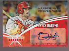 2014 Topps The Future Is Now Autograph Auto Bryce Harper 25 Nationals