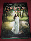 Crown of Silence by Storm Constantine 2000 Hardcover True 1st ed UK SIGNED