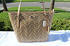 COACH F27350 PEYTON DREAM C ZIP TOP HANDBAG TOTE Tan Cream White
