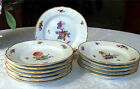 Set 12 Hand-Painted Royal Copenhagen SAXON FLOWER Salad Plates - 1st Quality