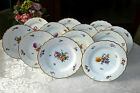 Set 12 Hand-Painted Royal Copenhagen SAXON FLOWER Dinner Plates - 1st Quality