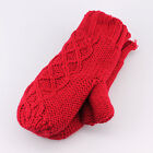Isotoner Cable Knit with Suede Palm Patch Mittens for Women - One Size Winter