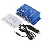 Mini Hi-Fi Audio Home Theater Stereo Speaker Amplifier + AC/DC Powered Adapters
