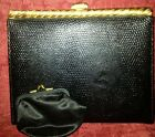 Vintage L And M 1940S Leather Clutch Bag With Original Coin Purse Still Attached
