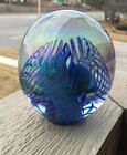 BEAUTIFUL SIGNED EICKHOLT 1999 ART GLASS PAPERWEIGHT!