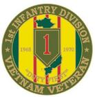 ***US ARMY VIETNAM VETERAN 1st INFANTRY DIVISION HAT/LAPEL PIN***Hat Pins/Army