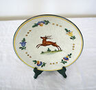 Deer~Buck With Floral Trim~Terracotta Pottery~Decorative~Plate~Dish !!!