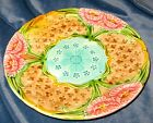 ANTIQUE ART-NOUVEAU FRENCH MAJOLICA PLATE ORCHIES 1890