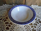 Vintage Circa 1960 BUFFALO CHINA RESTAURANT WARE CEREAL BOWL Blue Geo BAND
