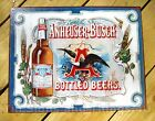Budweiser Anheuser-Busch Beer TIN SIGN vtg bottle bar wall decor poster 1519-A