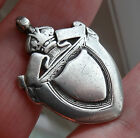 ANTIQUE 1906 HMARK ENGLISH STERLING SILVER ALBERT POCKET WATCH CHAIN FOB MEDAL