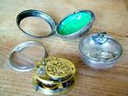 ANTIQUE hm1770 SILVER VERGE FUSEE PAIR CASE POCKET WATCH W RANSOM TO RESTORE NR
